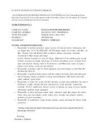 Sample Resume Auto Mechanic Auto Mechanic Resume Sample Mwb Online Co