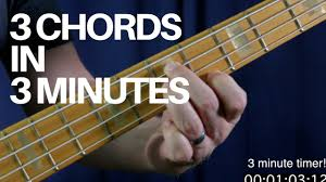 Learn How To Play 3 Movable Bass Chords In 3 Minutes Bass Guitar Lesson