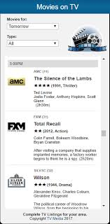 tv listings. tv media movie widget tv listings