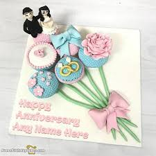 20 Special Anniversary Cake With Photo Name