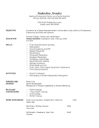 Dental Assistant Resume Objective Drupaldance Com
