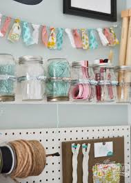make hanging mason jar craft storage