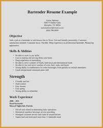 Bartender Resume Sample Server Bartender Resume Bartending Resume Simple Server Bartender Resume