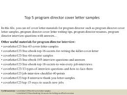 program manager cover letter samples top 5 program director cover letter samples