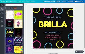 Aplicaciones Para Hacer Invitaciones Gratis Diseña Invitaciones Para Neon Party Online Gratis Canva