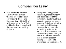 maccaig poetry comparing two poems no matter which two poems you  6 comparison essay two poems