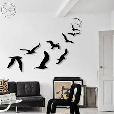 metal wall art flying birds home decor