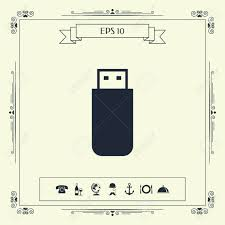 Flash Memory Design Usb Flash Memory Drive Icon Signs And Symbols Graphic Elements