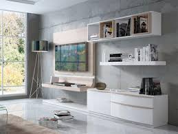 fenicia contemporary wall storage system with tv unit curved tv panel and wall shelving thumbnail