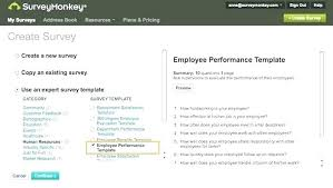 Easy Performance Review Template Employee Performance Feedback Template Evaluation Survey Project