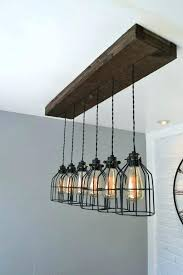 reclaimed wood beam chandelier distressed wood