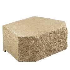 tan concrete retaining wall