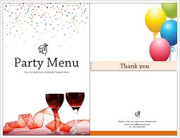 Party Menu Template All Purpose Party Menu Template Word Templates For Free