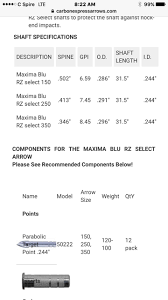 Maxima Blu Rz Arrows Weight Spine Confusion