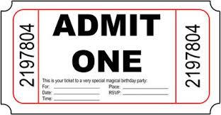 Admit One Invitation Template Barca Fontanacountryinn Com
