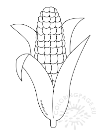 Small Picture Corn Coloring Pages Printable Coloring Page
