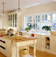 interior design kitchen white. Gleaming Expanses Of Wood, Both On The Island Top And Floor, Add Warmth To A Kitchen Decked Out In Creamy White Painted Cabinets With Beaded Details Interior Design