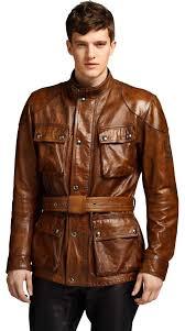 belstaff classic tourist trophy leather jacket jackets brown men s clothing david beckham belstaff belstaff london professional