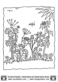 Simple Garden Coloring Pages Getcoloringpagescom