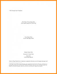 Example Of Chicago Style Essay Chicago Style Outline Template Memo Example