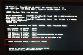 Ошибка cmos checksum error как устранить проблему  так как многим пользователям ПК это просто не нужно вопрос стоит только в одном как решить проблему с ошибкой cmos checksum error