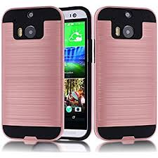 htc one m8 rose gold. htc one m8 case,htc case,kmall metal brushed texture slim impact resistant htc rose gold -