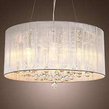 pendant shade lighting. LightInTheBox Modern Silver Crystal Pendant Light In Cylinder Shade, Drum Style Home Ceiling Fixture Shade Lighting R