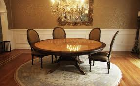 large custom american made satinwood and mahogany round dining table