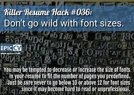 Killer Resume Hacks Epic Cv