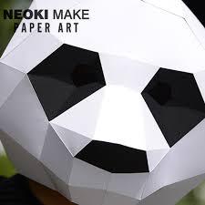 product thumbnail image for diy panda paper mask