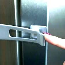 hot locks for refrigerator cabinet door safety corner protection drawer lock lot without padlock white