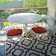 outdoor dining rug vintage patio metal dining set and bar cart with outdoor woven rug outdoor
