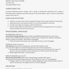 Career Objective For Real Estate Resume How To List Freelance Jobs On A Resume
