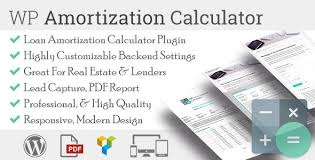 Amortization Loan Calculator Wp Amortization Calculator By Sh Themes Codecanyon