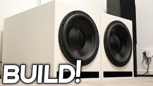diy loud subwoofer box build