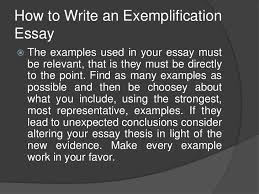 exemplification <br > 13 how to write an exemplification essay<br