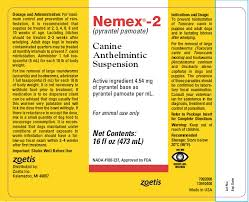 Pyrantel Pamoate Dosage Chart Nemex 2 Pyrantel Pamoate Canine Anthelmintic Suspension