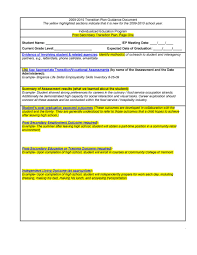 transition plan templates career individual template lab transition plan template 08