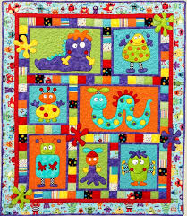 MONSTER PATCH Quilt Pattern ~ Adorable Applique and Pieced Quilt ... & MONSTER PATCH Quilt Pattern ~ Adorable Applique and Pieced Quilt Sewing  Pattern ~ Cot/Crib Adamdwight.com
