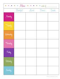 Bi Weekly Meal Planner Template Bi Weekly Meal Planner Template Weekly Meal Planner Template Word