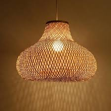 Asian Ceiling Lights Hand Bamboo Gourd Shade Pendant Light Fixture Asian Ceiling Lamp