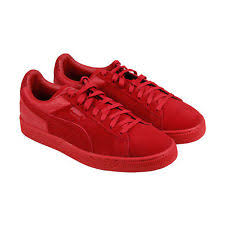 puma mens shoes. puma suede classic casual emboss mens red lace up sneakers shoes .