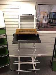 8 tier mat stand with header holder