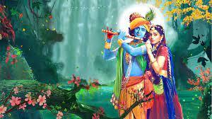 Radhe Krishna Painting Wallpaper HD ...