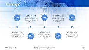 Free Google Slides Templates Timeline Blue Technology Free