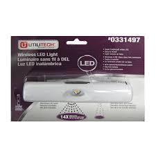 utilitech 6 in battery under cabinet led light bar
