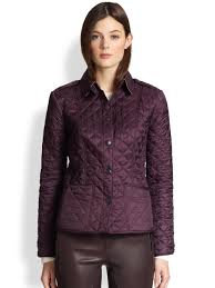 Burberry Kencott Quilted Jacket in Purple | Lyst & Gallery Adamdwight.com
