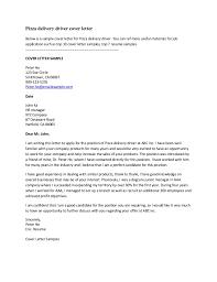 Cover Letter For Driving Application