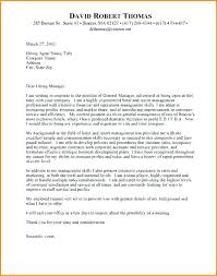 General Manager Cover Letter Hemetjoslynlbc Awesome Collection Of