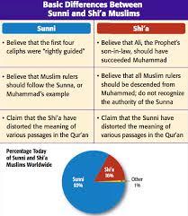 Comparison Chart Of Sunni And Shia Islam 71 Thorough Sunni Vs Shiite Comparison Chart